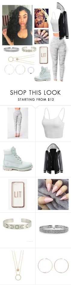 """""""Untitled #1446"""" by girlie-kendrick ❤ liked on Polyvore featuring Jet Lag, LE3NO, Timberland, Missguided, Bling Jewelry, Kate Spade and Anita Ko"""