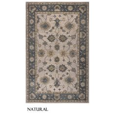 A blue or natural design with a beautiful border pattern will bring flair to your home. Add to your interior decor with this Rizzy Home Leone Collection Rug, made of wool and cotton. Hand-tufted, this rug has a durable construction.