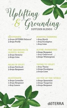 Uplifting and Grounding Diffuser Blends with doTERRA essential oils by maryellen