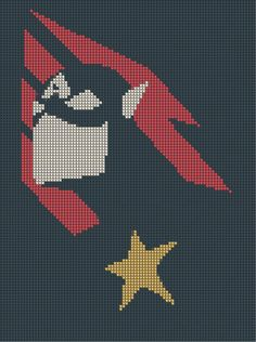 Captain America Cross-Stitch Pattern by CraftingGeek on deviantART