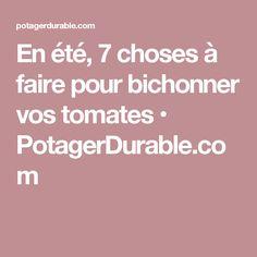 En été, 7 choses à faire pour bichonner vos tomates • PotagerDurable.com