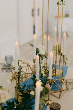 Set the mood with our flicker flame candles and gold candlesticks! (candlesticks also available in silver or black) www.a1wedding.com 903-463-7709 Candlesticks, Table Decorations, Silver, Furniture, Home Decor, Candle Holders, Candle Sticks, Decoration Home, Room Decor