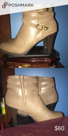 NWT light brown boots Never worn light brown boots that are medium width. Reasonable offers are considered whitemt. Shoes Ankle Boots & Booties