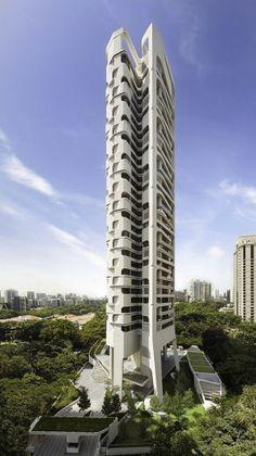 UNStudio's Ardmore Residence in Singapore #architecture