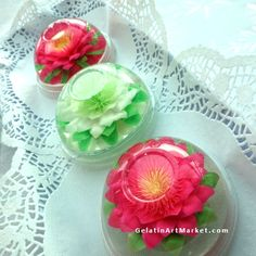 Gelatin Art Flowers -  Edible dessert