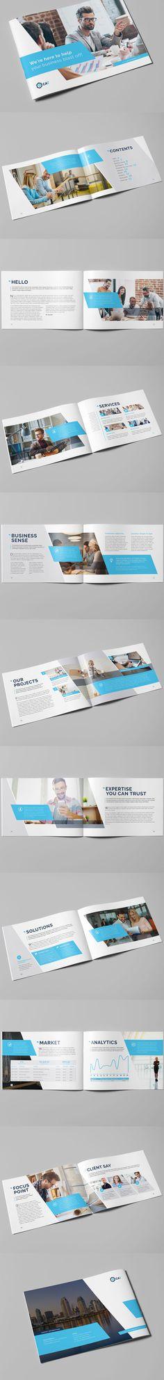 20 Pages Business Brochure - Landscape - Template InDesign INDD