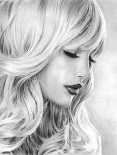 GIRL WITH LONG LASHES • Pencil Drawing