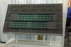Roof shingle with solar panel #roofing #roofstyle #tinroof #roofshingles #curbappeal
