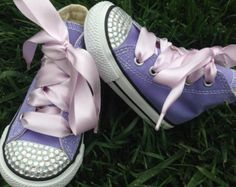 PRINCESS SHOES - Princess Birthday Party - Crystals - Sofia the First - Purple shoes - Purple Party - Purple Converse