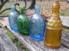 Vintage Collection Of Colored Glass Bottles by TreeTownPaper, $28.00