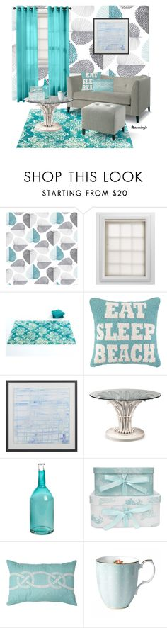 """""""Blue Room"""" by naomimjc ❤ liked on Polyvore featuring interior, interiors, interior design, home, home decor, interior decorating, Graber, HLC.ME, Abyss & Habidecor and Crate and Barrel"""