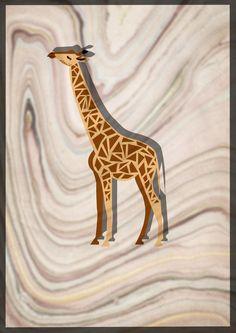 Flat design giraffe illustration