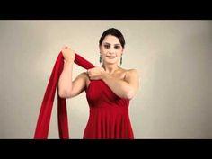 27 Ways to Wear 1 Dress in 7 Minutes! Convertible Twist Wrap Dress - YouTube