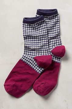 Gingham Crew Socks - anthropologie.com