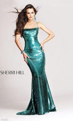 Long Metallic Sequin Sherri Hill