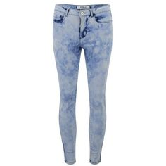 ONLY Women's Skinny Acid Wash Ankle Jeans ($19) ❤ liked on Polyvore featuring jeans, pants, bottoms, calças, pantalones, blue, short pants, denim skinny jeans, acid wash jeans and skinny leg jeans