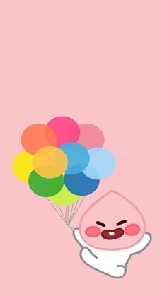 Home Screen Iphone Pastel 45 Ideas For 2019 Peach Wallpaper, Kawaii Wallpaper, Wallpaper Backgrounds, Iphone Wallpaper, Cute Backgrounds, Cute Wallpapers, Apeach Kakao, Kakao Friends, Drawings Of Friends