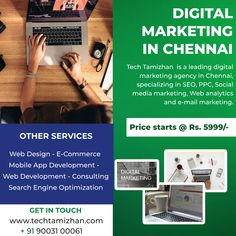 We love ❤️ what we do and we do what our clients love ❤️ & work with great clients all over the world to create thoughtful and purposeful websites 💐 🤳 For Enquiry Contact 🌐 www.techtamizhan.com ☎️ 9003100061 #webdevelopment #websites #seo #digitalmarketing #websites #lowcostwebsites #webdevelopmentchennai #techtamizhan #startup #googleads Mail Marketing, Digital Marketing Services, Social Media Marketing, Digital Web, Web Analytics, Google Ads, Search Engine Optimization, App Development, Chennai