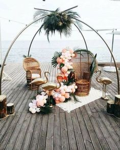 35 Sweet and Romantic Backyard Wedding Decor Ideas Related posts:Falkner winery rustic wedding arch .The most beautiful decorative ideas for a country wedding!frBest backyard wedding reception menu ideas one and only kennyslandscaping. Tropical Home Decor, Tropical Party, Tropical Colors, Tropical Interior, Tropical Vibes, Trendy Wedding, Fall Wedding, Rustic Wedding, Romantic Backyard