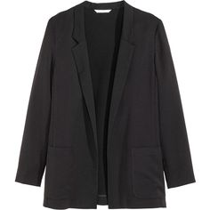 H&M Jacket ($31) ❤ liked on Polyvore featuring outerwear, jackets, blazer, black, straight jacket, h&m, black jacket, black straight jacket and h&m jackets