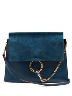 Faye medium suede and leather shoulder bag | Chloé | MATCHESFASHION.COM AU