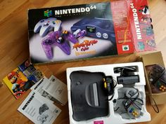 Original Nintendo system with the extra Atomic Purple controller Retro Game Systems, Buck Eyes, Nintendo N64, Original Nintendo, Retro Video Games, Purple, Classic, Derby, Classical Music