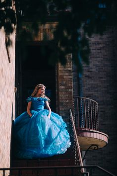 Items similar to Cinderella Disney Dress - Costume / Cosplay Gown - 2015 Live Action Movie - Womens - Custom Size on Etsy Cinderella Blue Dress, Cinderella Ballgown, Cinderella Cosplay, Cinderella Disney, Cinderella Party, Disney Princess Dresses, Princess Ball Gowns, Princess Outfits, Disney Dresses