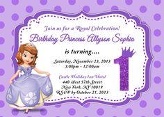 Sofia the first invitation editable text customizable princess sofia the first birthday invitation stopboris Images