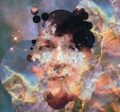 sergio albiac uses images from the hubble telescope to generate self portraits