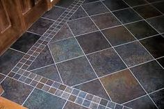 Floor Tile With Border At Diagonal Bathroom Ideas Pinterest Flooring Kitchen Floors And Patterns