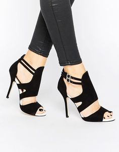 On SALE at 72.00% OFF! India Cut Out Heeled Sandals by Miss KG. Shoes by Miss KG, Suede-look upper, Pin buckle fastenings, Cut-out detailing, Open toe design, High heel, Wipe with a...