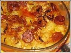 chorizo, poivre, lait, pomme de terre, crème, oignon, beurre, sel, gruyère râpé