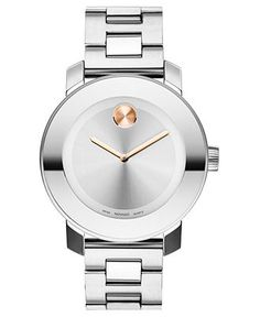 Movado Watch, Swiss Bold Medium Stainless Steel Bracelet 38mm 3600084 - Women's Watches - Jewelry & Watches - Macy's
