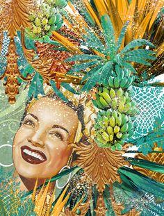 CARMEN MIRANDA TROPICAL » Prints                                                                                                                                                     More Carmen Miranda, Collage, Pop Culture Art, Tropical Fruits, Halloween 2016, Retro, Pop Art, Street Art, Illustration Art