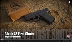 Video: First Shots with the New Glock 43 Find our speedloader now! http://www.amazon.com/shops/raeind