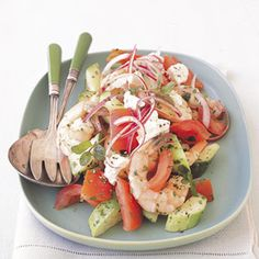 Shrimp and Tomato Summer Salad