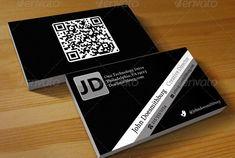 QR Code Business Card - Unlimited Colors Qr Code Business Card, Company Business Cards, Art Business Cards, Cleaning Business Cards, Black Business Card, Minimalist Business Cards, Professional Business Cards, Business Card Design, Creative Business