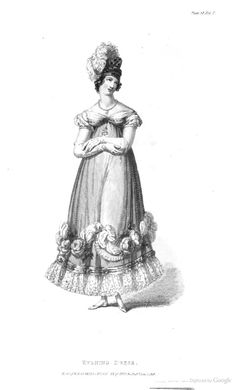 Evening Dress from Ackermann's Repository of the Arts June 1818