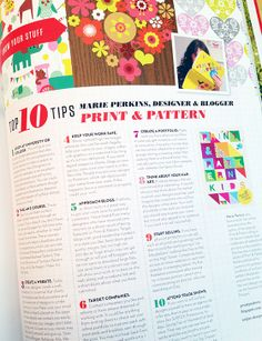 UPPERCASE Magazine Issue 21, including Marie Perkins of the Print & Pattern Blog @Janine Vangool #patternplease