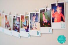 Faça você mesmo(a): varal de fotos com números