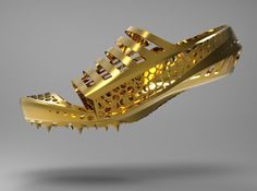 3D Printed spiked shoe.