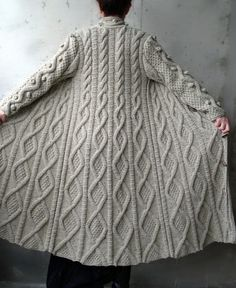 It is chunky, very soft and chic. It is extremely different and fashionable.    If you would like to wear unique and eye catching cardigan, it is