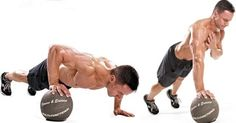Lock off pushup #fitness #weightloss #training #bodybuilding