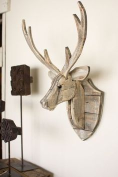 Kalalou Recycled Wooden Deer Head Wall Hanging More #WoodworkingIdeas