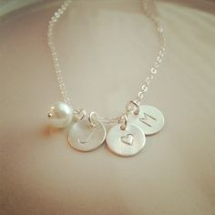 Personalized Couples Initial Necklace    Husband & by cocowagner, $39.90