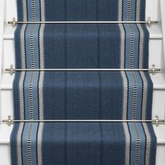 Designers and Makers of unique stripe runners, rugs and fabrics in natural fibres. Simply Luxury for Modern Living Hallway Carpet Runners, Cheap Carpet Runners, Carpet Stairs, Stair Runners, Grey Carpet Bedroom, Beige Carpet, Foyer Storage, Painted Staircases, Diy Carpet Cleaner