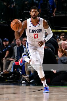 Paul George of the LA Clippers handles the ball against the Dallas Mavericks on November 2019 at the American Airlines Center in Dallas, Texas. Get premium, high resolution news photos at Getty Images Mba Basketball, Basketball Players, Cristiano Ronaldo, Nba League, Nba Pictures, La Clippers, Nba Wallpapers, Los Angeles Clippers, Nba Basketball