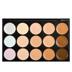 2015 hot 2 colors to chose Special Professional 15 Color Concealer s Facial Face Cream Care Camouflage Makeup Palettes Cosmetic Professional Makeup Brush Set