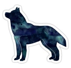 Siberian Husky Black Watercolor Silhouette - Breed Collection  by TriPodDogDesign