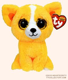 Ty Dandelion The Yellow Dog Beanie Boos Special Edition Ty Beanie Boos, Beanie Boo Dogs, Rare Beanie Babies, Beanie Buddies, Ty Peluche, Ty Animals, Baby Dolls, Dolls Dolls, Der Boxer